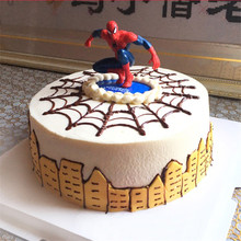 kids toys for children spiderman birthday topper gift decorations cupcake toppers