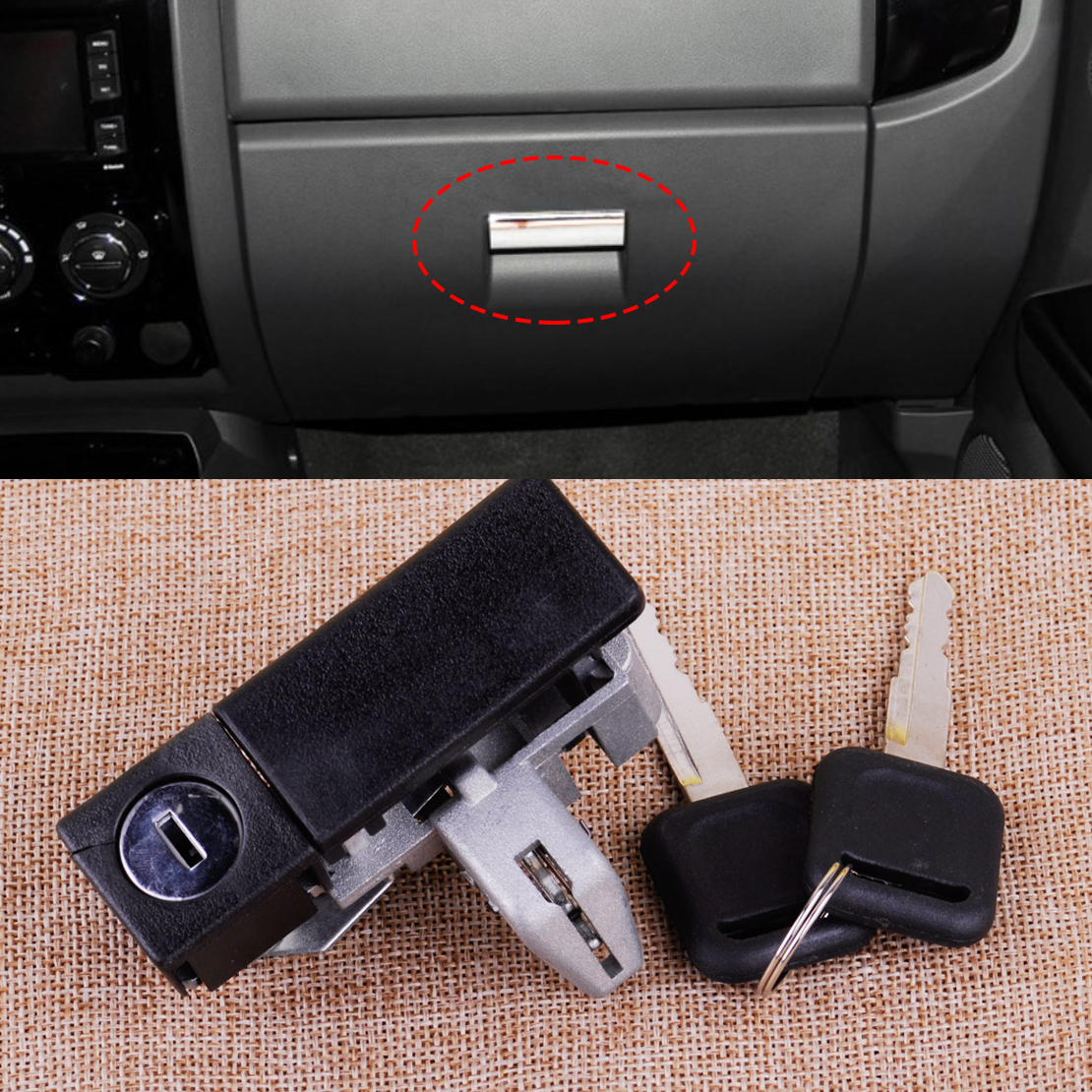 CITALL Car Glove Tool Box Lock With Two Keys Fit For Great Wall V200 V240 2010 2011 2012 2013 2014 2015