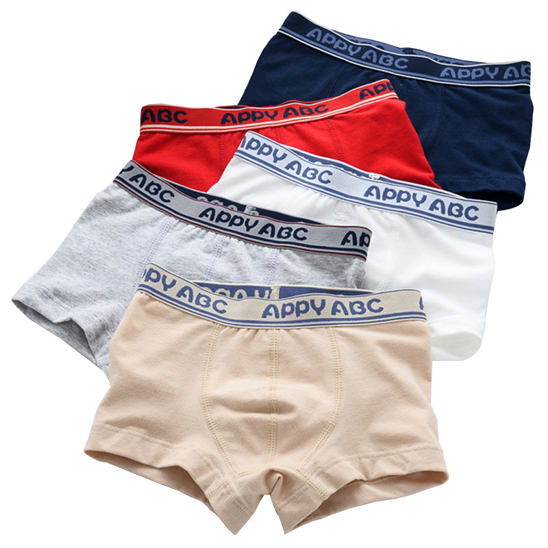 5 Pcs/lot 3-Kinds Style Soft Organic Cotton Kids Boys Underwear Children's Boxer For Boy Shorts Panties Teenage Underwear 2-16y ювелирные серьги fresh jewelry ювелирные серьги