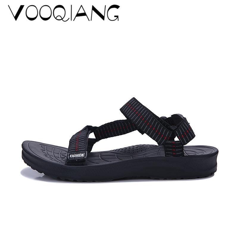 dec8207bc New Men Sandals Summer Men Beach Shoes Weaving Slippers Hole ...