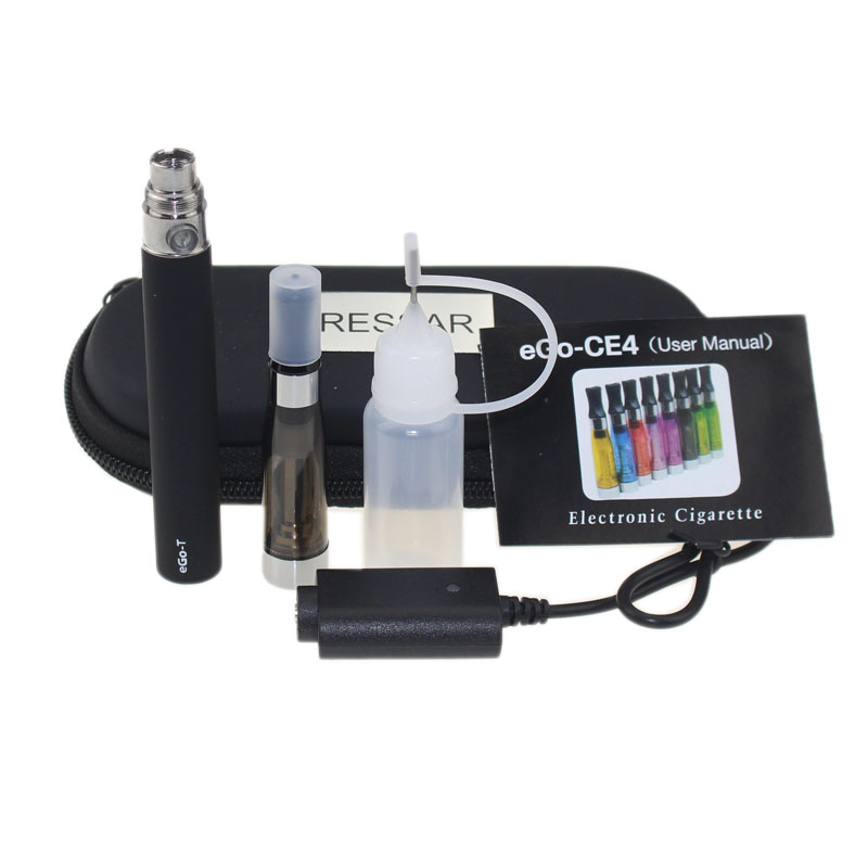 EGo CE4 Starter Kit E Zigarette 650 900 1100 mAh eGo t batterie 1,6 ml CE4 Clearomizer E Cig Set Reißverschlussetui Kit 11 farben