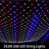1set 3M X 2M LED Twinkle Lighting 200 LED Xmas String Fairy Wedding Curtain Background Outdoor