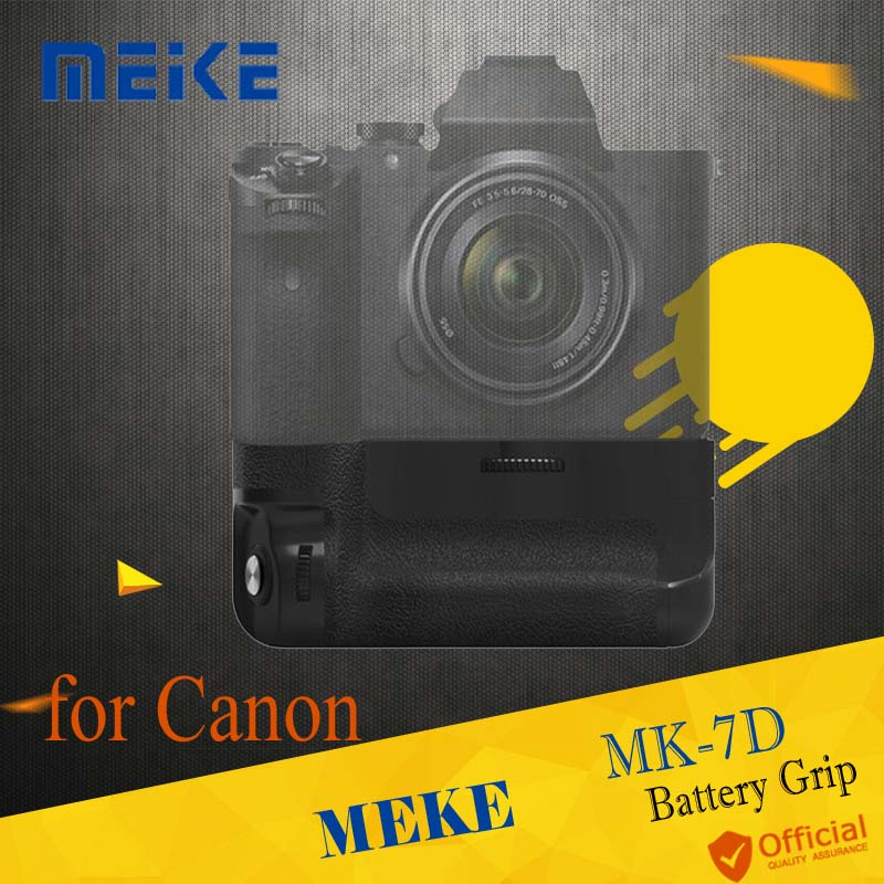 Meike multi-puissance MK-7D batterie paquet poignée obturateur Vertical batterie poignée pour Canon 7D LP-E6 remplacer BG-E7 accessoires de caméra