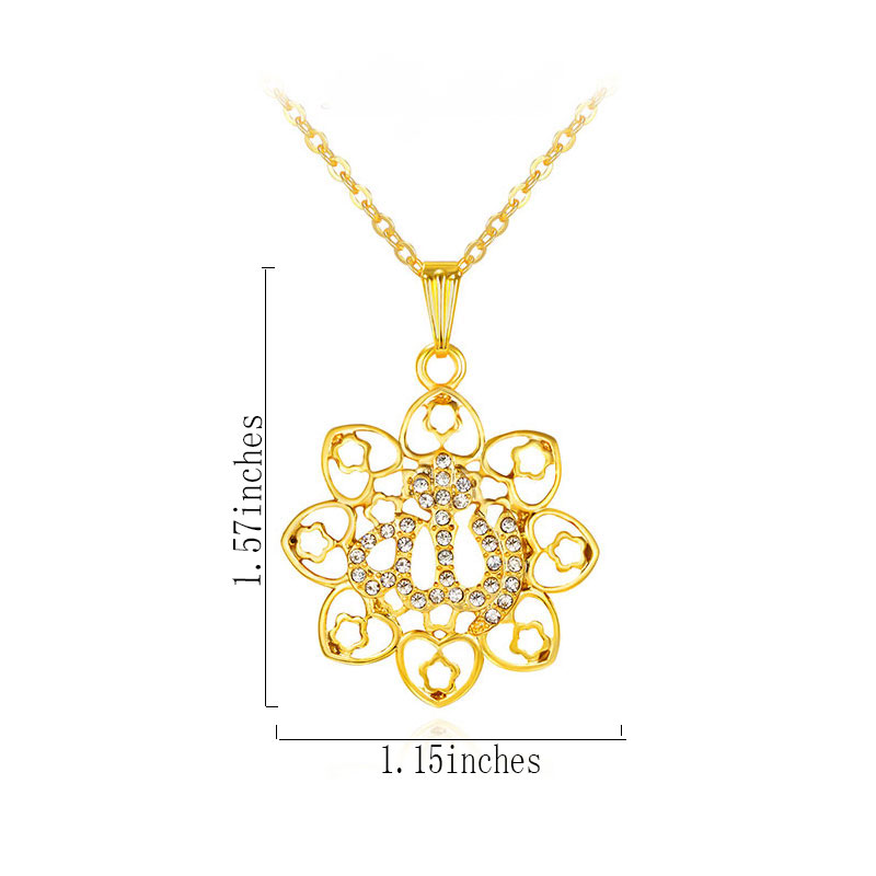 gorjuss islam islamic allah necklace jewelry pendant fashion colar & necklace vintage colares collares crystal 2017 1