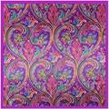 [Lesida] moda mulheres foulard cachecol polyster flor boemia lenços quadrados de impressão padrão de moda famosa marca xale 90*90 centímetros 9116