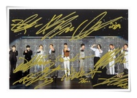Super Junior SJ Su Ju Su Jr Autographed Signed Group Photo 6 Inches Korean Freeshipping 01