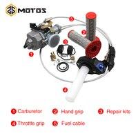 ZS MOTOS Keihin Auto PZ30 30mm Power Jet Carburetor+Visiable Twister+Cable+Grips+Repair Kit for Honda KTM For 200cc CG200 TTR250