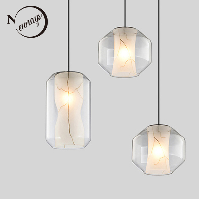 Creative Post Modern Marble Stone Texture Pendant Light E27 Led Single Head Lamp For Living Room Kitchen Bedroom Cafe Restaurant