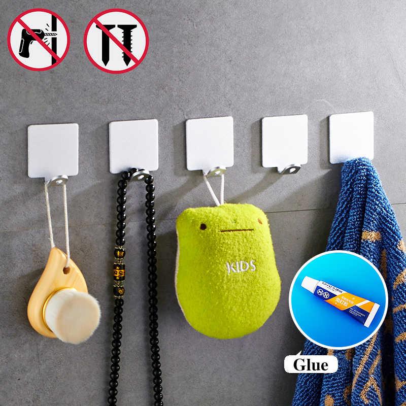 Paznokci darmowe 1 zestaw 5 sztuk hurtownie wieszak ścienny hak ścienny kuchnia hak akcesoria łazienkowe haczyk na ubrania