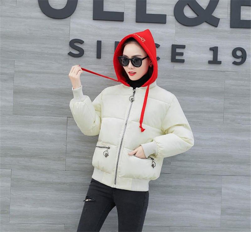 black À White 2018 Le Bas Mode Taille Femmes Vers Veste Manteau Nouveau Grande Parka Survêtement D'hiver khaki Fermetures Filles Glissière De N63 Iwg4Rwq