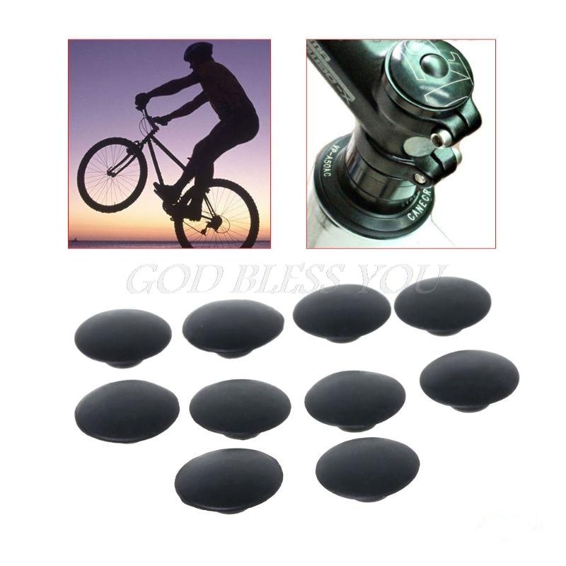 10pcs Bicycle Headset Cap Waterproof Dustproof M6 Screw MTB Bike Stem Top Cover