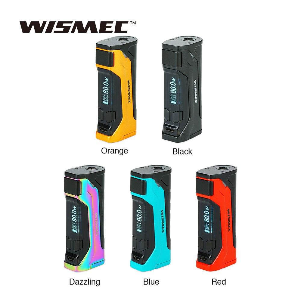 Nouveau Original WISMEC CB-80 TC boîte MOD Max 80 W sortie et 0.91 pouces affichage No 18650 batterie boîte Mod Cigarette électronique Vape Mod