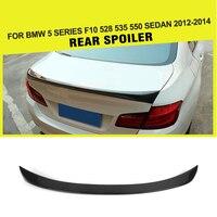 Car Styling Carbon Fiber / FRP Auto Rear Racing Spoiler Wing Lip for BMW 5 Series F10 528 535 550 Sedan 2012 2014