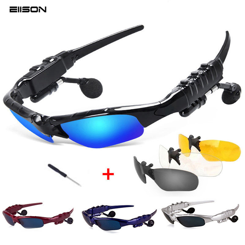 Bluetooth Sunglasses Sun Glasses Polarized Wireless <font><b>Headphone</b></font> With Microphone Outdoor Glasses with Mic Casque for <font><b>sony</b></font> xiomi image