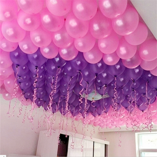 Weeding Decoration 100pcs 10inch 2.2g Thick Pearl Latex Balloon Wedding  Marriage Marriage Room Decorated Supplies