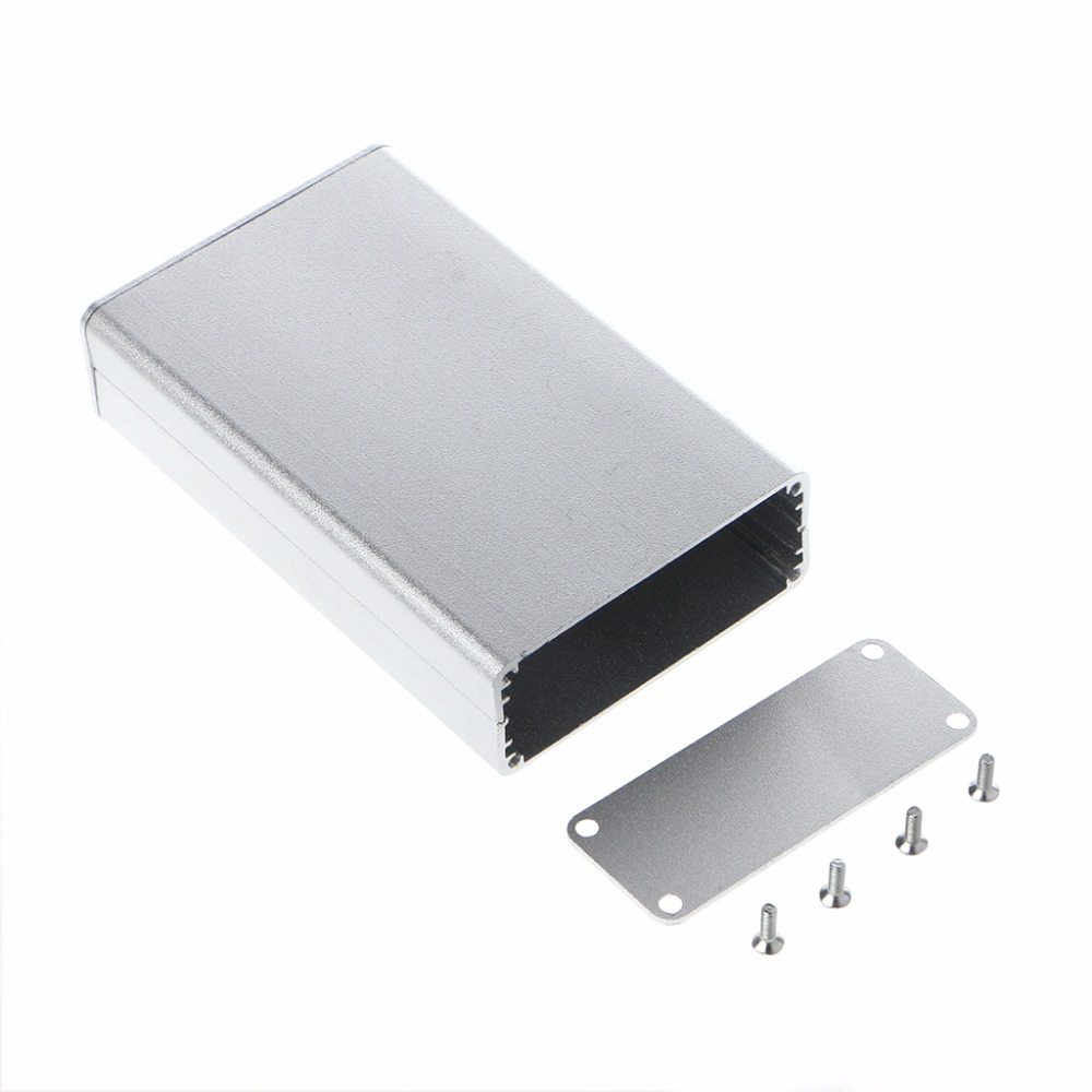 BGEKTOTH 1 PC Aluminum Silver Color Project Box Enclosure Case Electronic DIY Instrument Case 80x50x20mm #1A60341 #