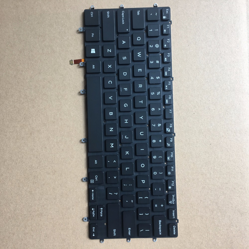 Brand new original laptop US baclight <font><b>keyboard</b></font> FOR <font><b>Dell</b></font> XPS 9550 9560 9570 PRECISION <font><b>5510</b></font> 5520 5530 0GDT9F GDT9F image