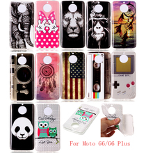 Case For Motorola MOTO G6 Cute Cartoon Animal Anime Soft TPU Back Cover for Plus Pro Phone Silicone Bags