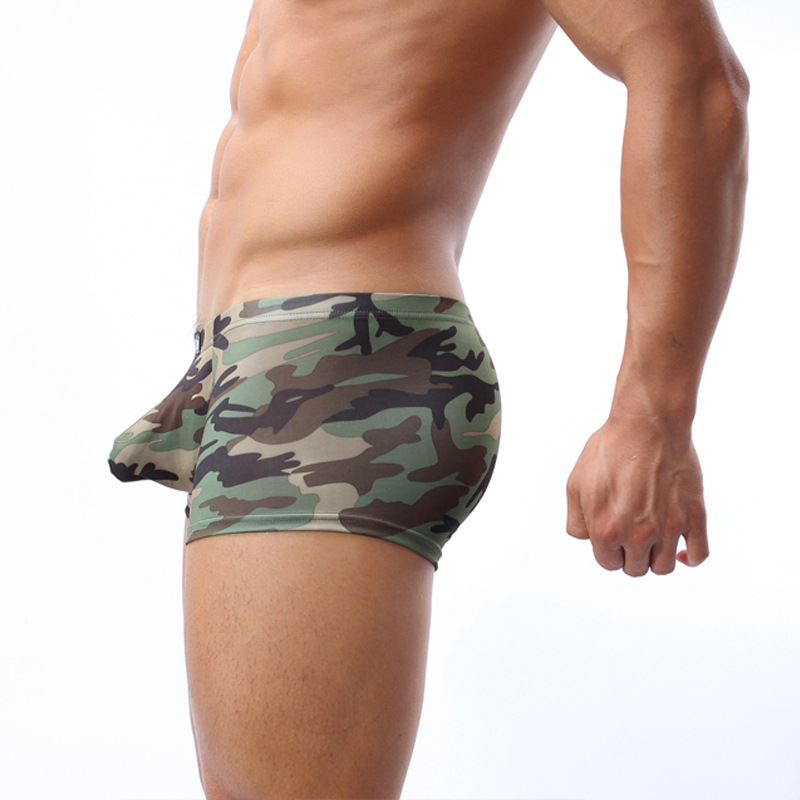 Cockcon Brand Sexy Men Underwear Big Penis Bulge Underpants Young Mens Boxer Shorts Camouflage U Convex Panties Male Boxershorts