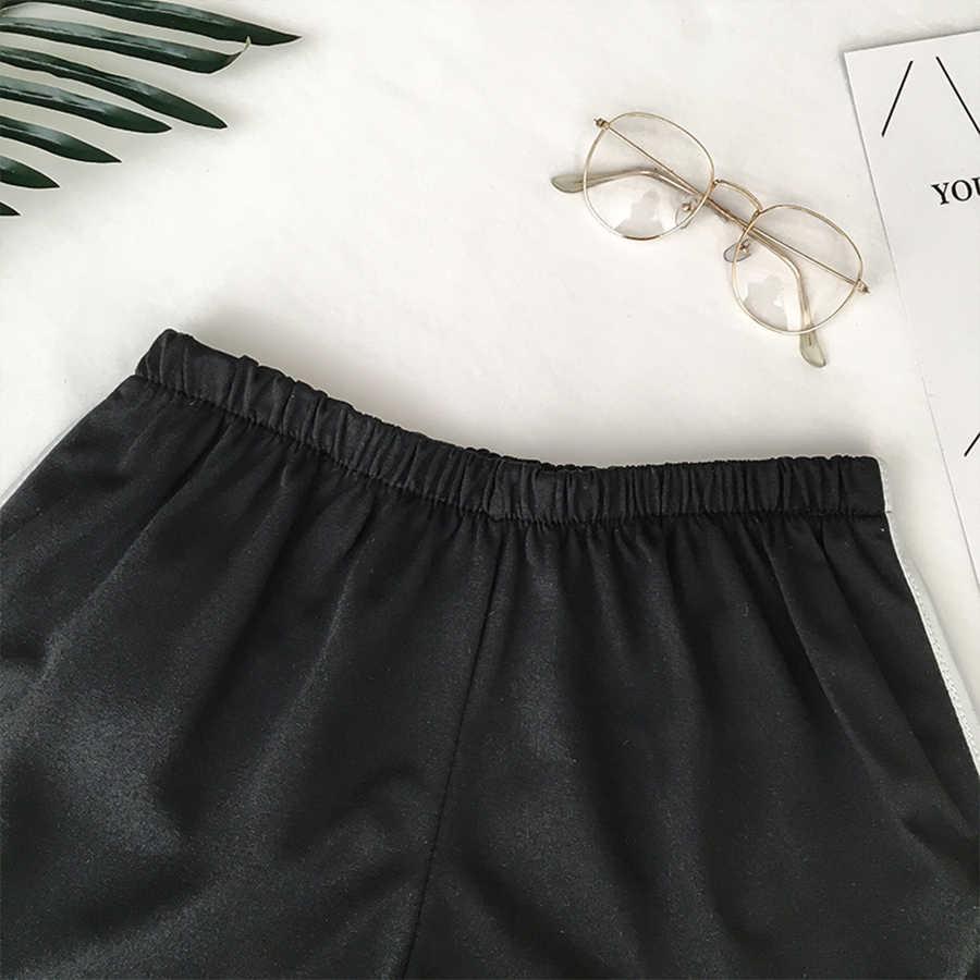 2019 простые женские повседневные шорты Лоскутные боди фитнес тренировки летние шорты женские эластичные обтягивающие тонкие пляжные Egde короткие Горячие
