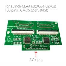 Для платы адаптера CLAA150XG01/02/03 LVDS на CMOS 50P + 50P 2ch 8bit 100Pins 0,5mm Dual 50P Драйвер преобразователя board