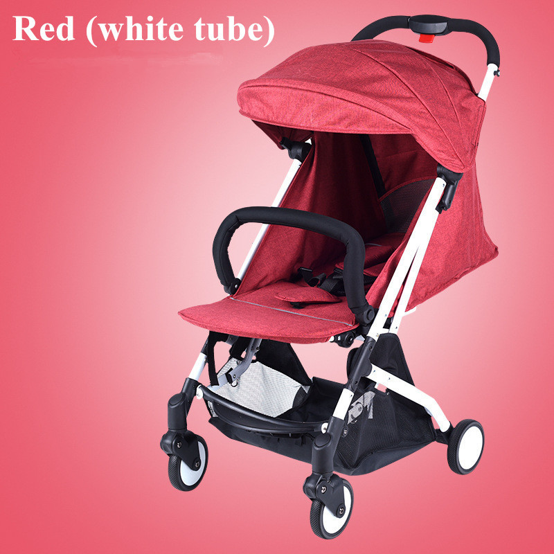 2017 Brand New 4 in 1 Newbore Umbrella Pram Lightest Portable Baby Strollers Four Wheels Anti-Shock One Key Folding Cart06
