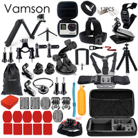 Gopro Accessories Set For Go Pro Hero 5 4 3 Kit Three Way Selfie Stick For
