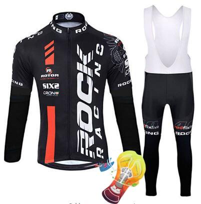 2018 felsen Jersey Setzt Langarm Mountainbike Kleidung Tragen Maillot Ropa Ciclismo Quick Dry Racing Fahrrad Kleidung