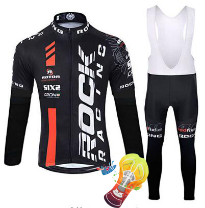 цены 2018 rock Cycling Jersey Sets Long Sleeve Mountain Bike Clothes Wear Maillot Ropa Ciclismo Quick Dry Racing Bicycle Clothing