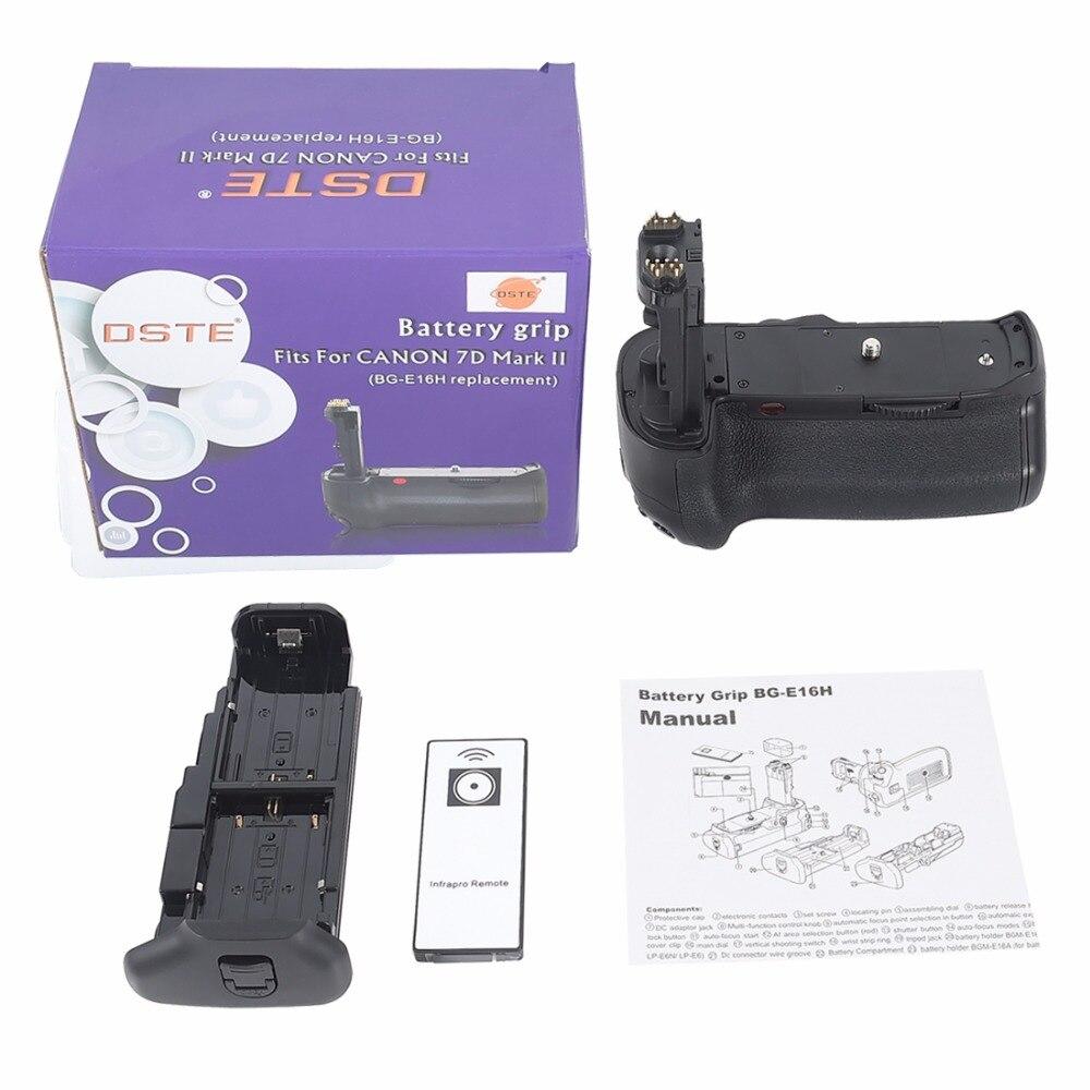 Poignée de batterie DSTE BG-E16H pour appareil photo reflex numérique Canon 7D MARK II