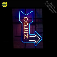 Open Arrow NEON LIGHT SIGN Neon Sign REAL GLASS Tube BEER BAR PUB Light Sign Store Display Handcraft Design Iconic Sign