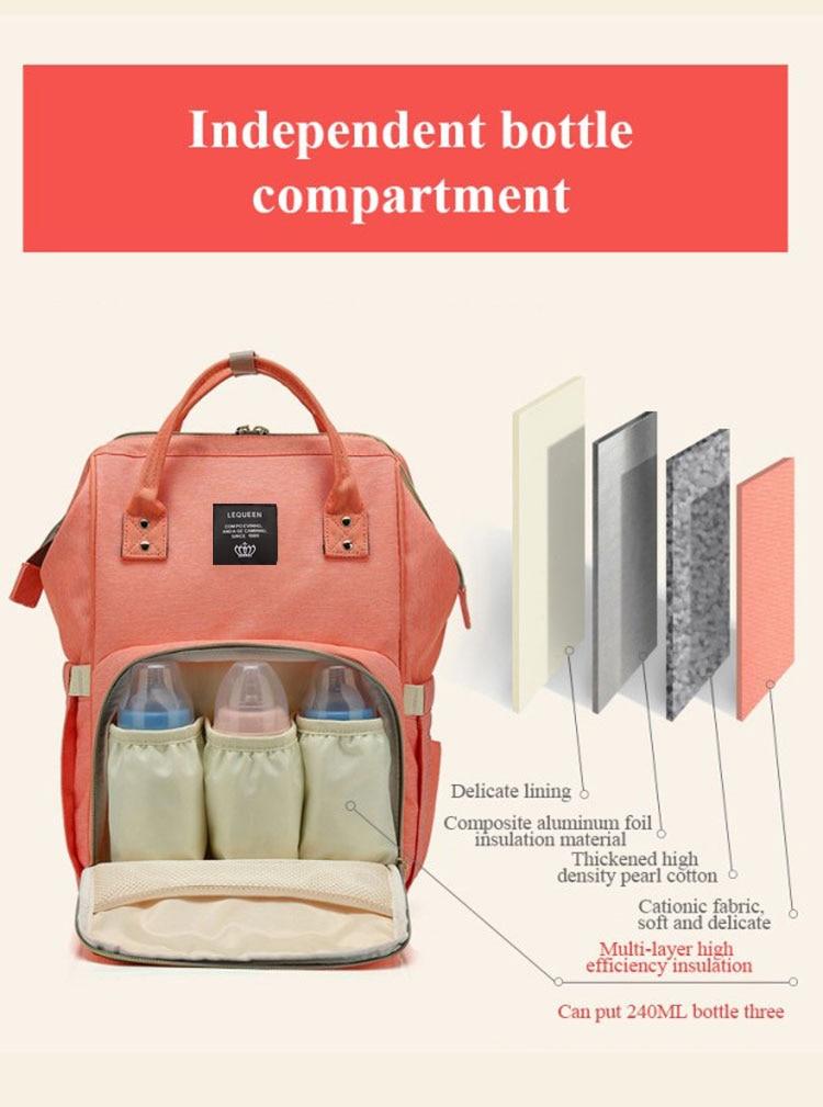 HTB1ls4QbgFY.1VjSZFnq6AFHXXam Lequeen Fashion Mummy Maternity Nappy Bag Large Capacity Nappy Bag Travel Backpack Nursing Bag for Baby Care Women's Fashion Bag