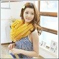 Бесплатный shippping 180*50 СМ Осенью и зимой сплошной цвет шарфы мыс сверхбольших ультра жидкости плиссированные длинный шелковый шарф женщина
