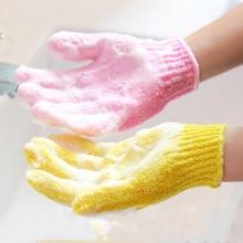 Банные отшелушивающие поломоечные скольжению сопротивление массаж губка душ тела принадлежности перчатки