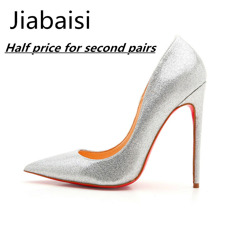 a13b0f22b5e Compare Prices on 5 Inch Silver Heels- Online Shopping Buy Low ... Jiabaisi shoes  Women pumps heel 5 Inch quality silver 12CM super High ...