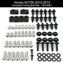 For Honda NC700X 2012 2013 Motorcycle Complete Full Fairing Bolts Kit Screws Bodywork Clips Nuts Side Covering Bolts Kit fairing bolts full screw kits for honda cbr250r mc41 11 13 cbr 250r 11 13 cbr250 r 11 12 13 2011 2012 2013 nuts bolt screws kit