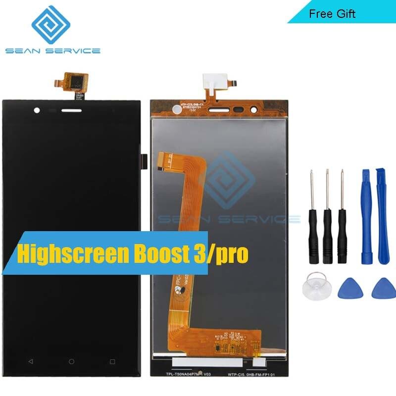 Para Original Highscreen boost 3 Pantalla LCD + TP Pantalla Táctil Digitalizador