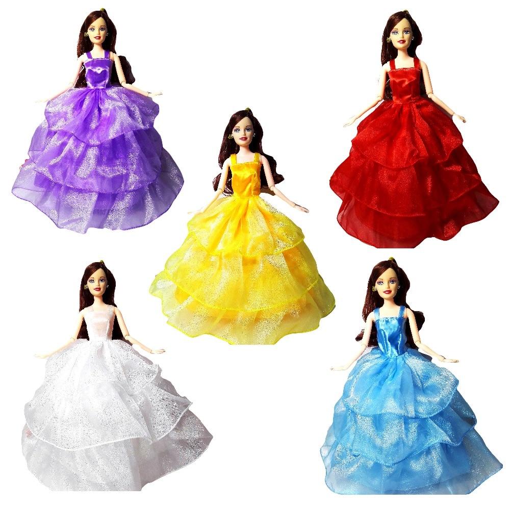 ᗚksiężniczka Ubrania Dla Lalek Barbie Dress Odzież Mody ślubnej