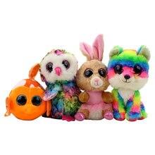 8ea8fb7cd3d 13cm to 18cm Hot Ty Beanie Boos Plush Animal Doll Toy Big eye Leopard Foxy  Dog