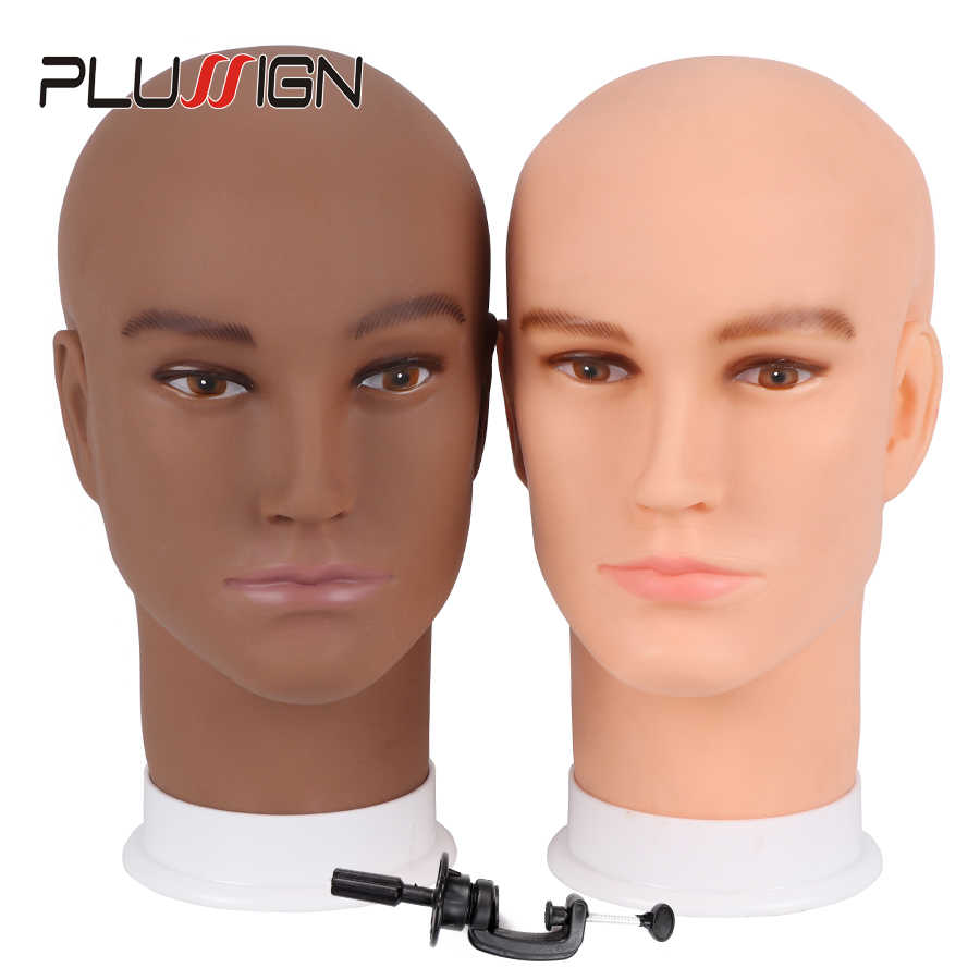 Plussign Realistic Plastic Male Mannequin Model Dummy Head For Hat/ Wig/ Mask/Sunglass Display,Manikin Heads Wig Display