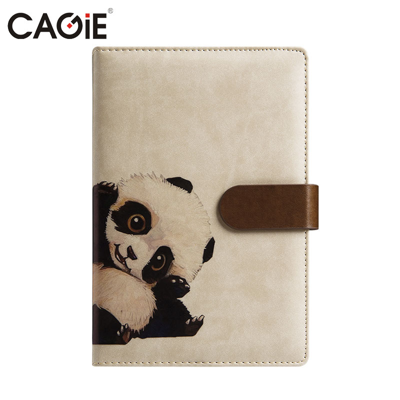 CAGIE 2017 Kawaii Panda Calendar Planner Notebook Pu leather Animal Pattern Schedule Book Office/School Stationery Agenda