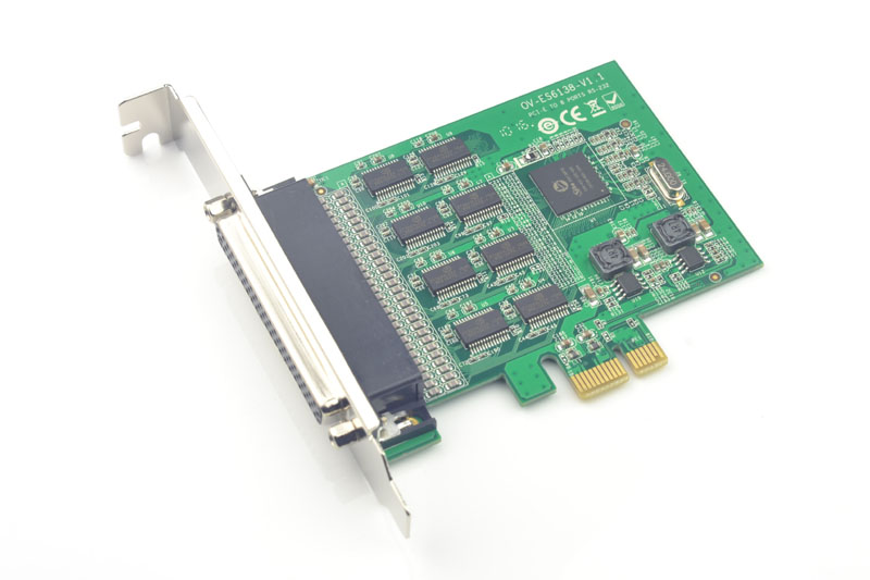 PCI-E to 8 Ports RS232 Serial Controller Card 15kV ESD Protection SD6138 Chipset
