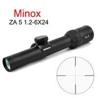 MINOX HD ZA5I 1.2 6x24 IR Tactical Riflescope Optic Sight Rifle Scope For AK47 AR15 M4 Caza Oxota Sniper Gear Air Soft Rifle