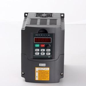Image 4 - 2.2KW แกนระบายความร้อนด้วยอากาศ 80 มม.2.2KW ไฟฟ้าแกนมอเตอร์ + 2.2KW อินเวอร์เตอร์ความถี่ + 80 มม.+ 13PCS ER20 COLLET