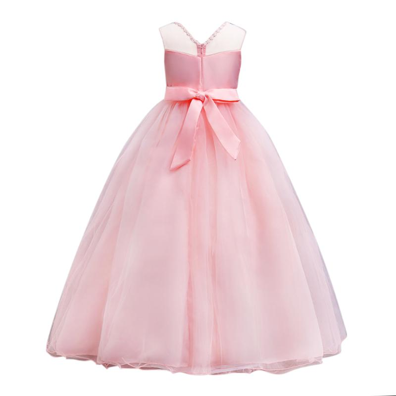 Teen Girl Clothes Christmas Tutu Flower Kids Dresses For Girls Baby Kids Ceremonies Party Wedding Dress Costumes