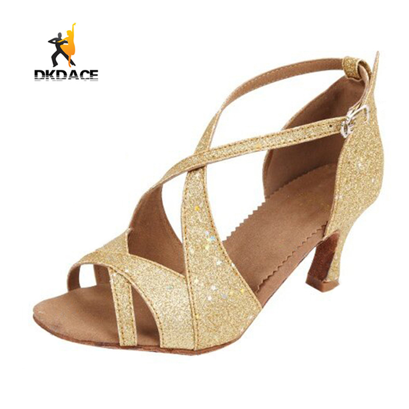 ФОТО New Arrival Girls Ladies Dance Shoes Latin/Ballroom/Salsa Dance Shoes For Women Sandals Satin Glitter Leatherette More Colors