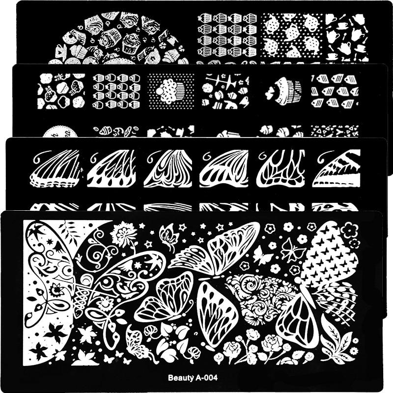 1Pcs חדש פרח יופי עיצובים נייל חותמת - עיצוב ציפורניים