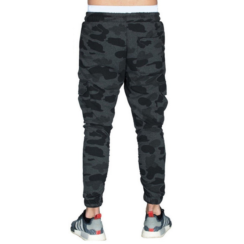 NIBESSER Brand Fashion Camouflage Printed Pants Men Long Pants Autumn Pencil Pants Loose Camo Jogge Comfortable Cargo Trousers