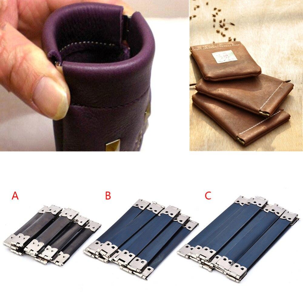 10pcs/lot DIY Bag Accessory Internal Elastic Purse Wallet Frame Photo Bucket Size 8cm 10cm 12 cm Drop Shipping Random Color