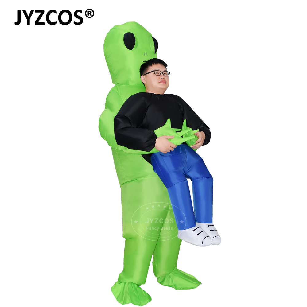 JYZCOS Alien Inflatable Costume Halloween Costume for Women Men Green Alien Costume Adult Monster Cosplay Inflatable suit